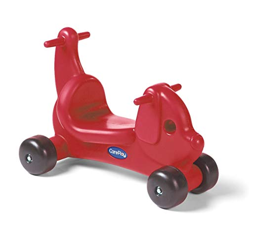 Careplay Ride-On Play Puppy Critter, Red