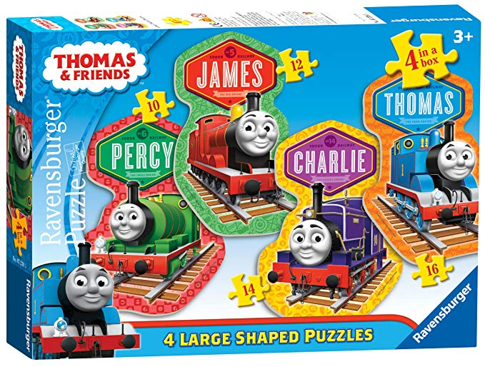 Ravensburger Thomas & Friends: 4 Friends 4 Shaped Jigsaw Puzzle for Kids – Every Piece is Unique, Pieces Fit Together Perfectly